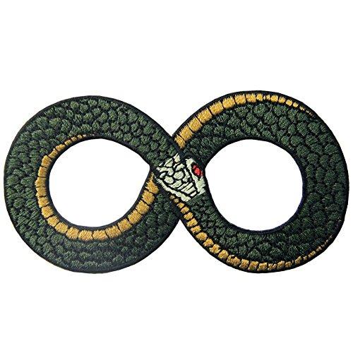 ZEGIN Toppa Ricamata da Applicare con Ferro da Stiro o Cucitura, Tema: Ouroboros Il Simbolo dell'infinito