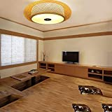 Pendant Lighting Handmade Bamboo Chandelier Ceiling Lamps Bamboo Hanging Lamps Dining Hall Simple Fashion Chinese Ceiling House Lighting Fixtures,50cm,50cm (Color : 50cm)