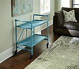 Cosco Outdoor Living Indoor/Outdoor Folding Serving Cart, Teal