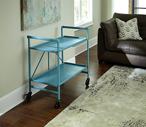 Cosco Indoor/Outdoor Serving Cart, Folding, Teal