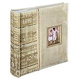 Hama Einsteckalbum (Fotoalbum mit 100 Seiten, Album für 200 Fotos im Format 10x15 cm, Fotobuch zum Einstecken) beige