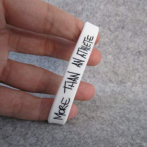 ZWH La Estrella De Baloncesto Lebron James No Es Sólo Un Deporte Pulsera Deportista Pulseras De Silicona (Color : White 19CM)