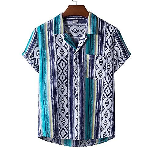 Camisa Hombres Imprimir Moda Transpirable Vacaciones Casual Hombres Camisa Playa Regular fit Hombres Camisa Hawaii Verano Fresco Nadar Surf Hombres Manga Corta
