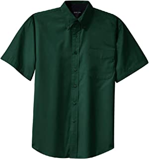 Hokny TD Men Dress Shirts Button Down Short Sleeve Business Shirt