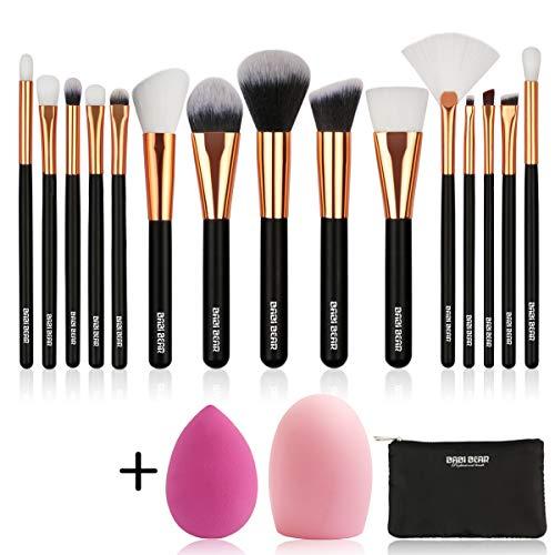 Professional 18-Piece Kabuki Makeup Brush Set