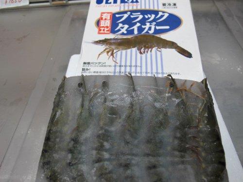 冷凍有頭海老ブラックタイガー 35尾   1.3kg