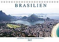Brasilien - Von Rio nach Florianópolis (Tischkalender 2022 DIN A5 quer): Vom Zuckerhut geht es entlang der Costa Verde ins malerische Kolonialstaedtchen Paraty und von dort weiter in das suedbrasilianische Archipel Santa Catarina. (Monatskalender, 14 Seiten )