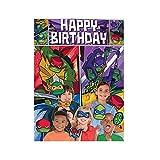 amscan Teenage Mutant Ninja Turtles Birthday Scene Setter with Photo Props- 17 pcs., Multi-Colored, One Size