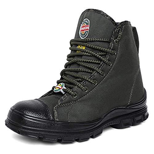 Liberty Warrior 88-46HSTG Jungle Boot for Men, Olive Green Men Canvas Boot (Olive Green, 9 UK / 43 EU)