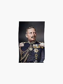 Kaiser Wilhelm II Porträt Deutsches Reich Signatur Hohenzollern A3 011 Gerahmt