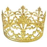 BESTONZON Or Couronne Cake Topper Or Mariage/Décoration de gteau d'anniversaire pour Le Roi, la Reine, Le...