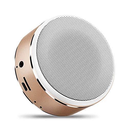 JOLLY Mini Bluetooth 4,2 Lautsprecher drahtlose tragbare Bluetooth spieluhr Stereo Sound mikrofone für freisprecheinrichtung USB-Kabel unterstützung tf-Karte (Farbe : Braun)