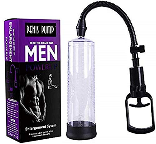 New FRT Held Enlarger Pēnīs Air Pump for Man/Manual Enlargement Vacuum Device for Bēginner/Men Supplement Paint Sprayers Toys/Male Hand Extender/Strong Mens Power/Silicone/Black Best Gift