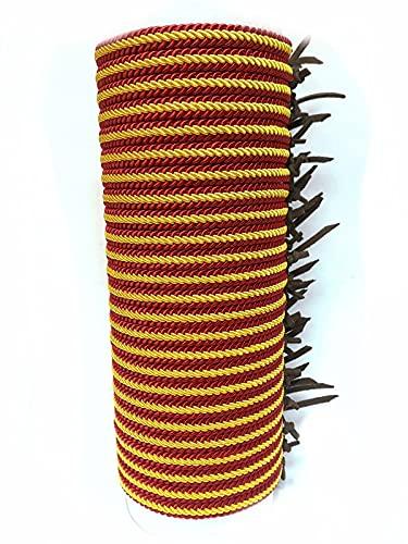 Pulsera de cuero e hilo trenzado con la Bandera de España (Grande, Lote 25 pulseras)
