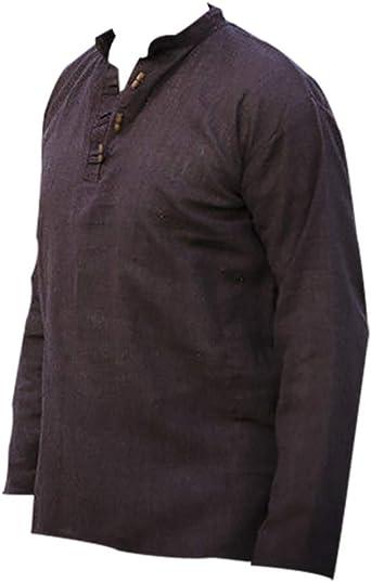 Camisas Medievales para Hombre Camisa vikinga de Manga ...