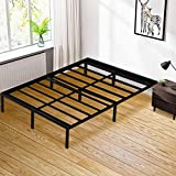 DragonPad Queen Bed Frame/Non-Slip Design/Quiet Noise Free/No Box Spring Needed/Under-Bed Storage/Easy Assembly