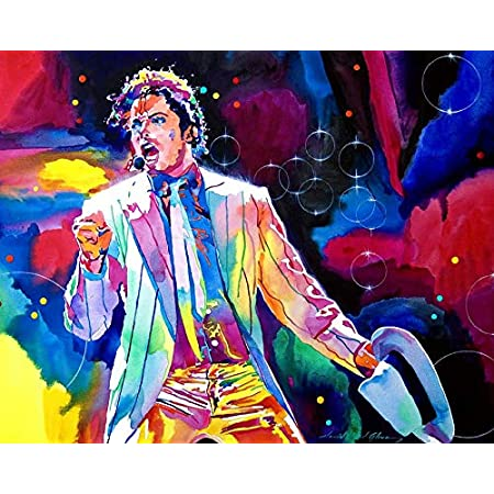 VVWV Mj Michael Jackson Canvas Art Posters for Wall Living Room Boys Girls Motivational Dancing Wall Stickers W X H 14 X 14 Inches