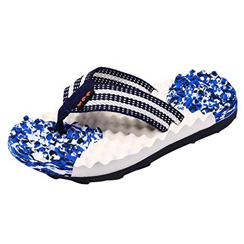 Herren Schlappen, SANFASHION Mode Camouflage Flat Flip Flops Hausschuhe Strand Massage Schuhe Dusch- und Badeschuhe