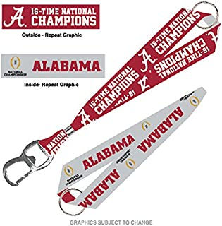 WinCraft Alabama Crimson Tide NCAA 2016 CFP Champions Keystrap Key Chain 2015 National Champ
