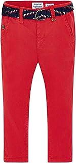 Mayoral Pantalón Chino cinturón, 6 años (116 cm), Rojo Oscuro