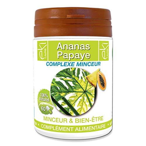 Complexe Minceur  Ananas   Papaye   60 gélules   Minceur Et Bien-Être   320 mg dosage 100% naturel sans additif et non comprimé   EKI LIBRE