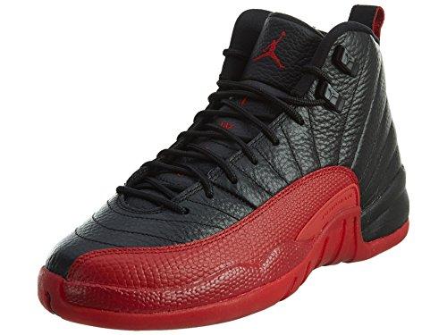 Jordan Boy's 12 Retro Big Kids Style, Black/Varsity Red, 6.5