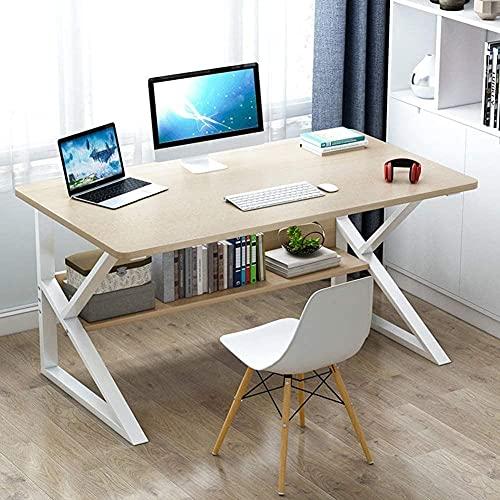Escritorio impermeable para oficina en casa, mesa de ordenador portátil, mesa de mesa, mesa de noche, escritorio de trabajo, mesa de trabajo C 100 x 60 cm, B_100 x 60 cm