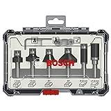 Bosch Professional 2607017469 - Set di 6 accessori Set di frese per bordi e bordi (per leg...