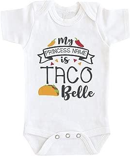 Baby Romper,Toddler Newborn Kids Girls Boys My Princess Name is Taco Belle Print Romper Bodysuit Playsuit Clothes