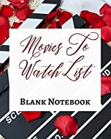 Movies To Watch List - Blank Notebook - Write It Down - Pastel Rose Red Black - Abstract Modern Contemporary Unique Art