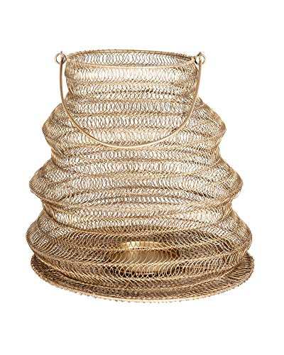 EAST at MAIN Lantern, Metal, Antique Brass, L