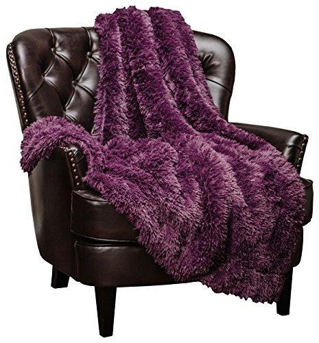 Chanasya Shaggy Longfur Faux Fur Throw Blanket - Fuzzy Lightweight Plush Sherpa...