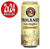 2 x 24 x Paulaner Hefeweißbier naturtrüb 0,5L Dose 5,5% Vol.alc