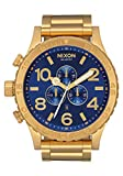 NIXON 51-30 Chrono A088 - All Gold/Blue Sunray - 305M Water Resistant Men's Analog Fashion Watch (51mm Watch Face, 25mm Stainless Steel Band)