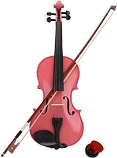 Chic and Professional Violin Instrument Musical Instrument for Beginers New 1/2 Acoustic Violin Case Bow Rosin Pink, Exqui...