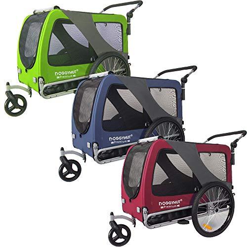 TIGGO DOGGYHUT® Premium XL Hundefahrradanhänger & Jogger 2in1 Fahrradanhänger 80106 (ROT)