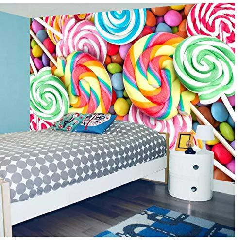 Mural No tejido 3D Fotos Hd Imagen de escritorio Papel tapiz de bebé Habitación de niños Lollipop Candy Full Hd Wallpapers Mural de pared Decoración del hogar