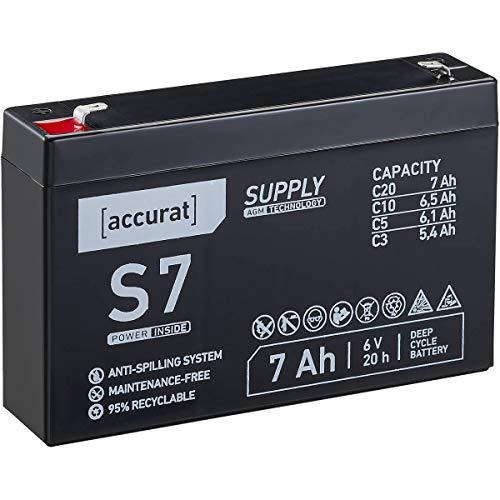 Accurat 6V 7Ah Blei-Akku AGM Blei-Batterie Zyklenfest Supply-Serie VRLA Versorgungsbatterie S7 (wartungsfrei)