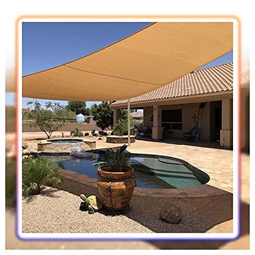ZXD Vela De Sombra Solar, Rectángulo Exterior PES Toldo con Protección Solar, Protección Solar Resistente Al Agua, con Kit De Fijación (Color : Sand, Size : 4x6m)