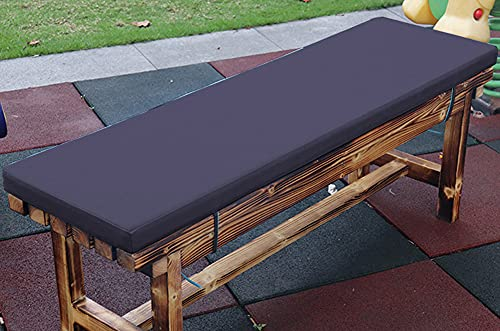 jHuanic Cojín impermeable para banco de 2/3/4 plazas al aire libre, 100/120/150 cm, cojín rectangular para asiento de banco para columpio (110 x 50 x 5 cm), azul oscuro