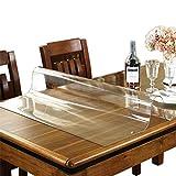 AWSAD Mantel de Vidrio Suave, Mantel Transparente de PVC de 1,5/2/3 mm Impermeable, 17 tamaños (Color : 2mm, Size : 60x60CM)