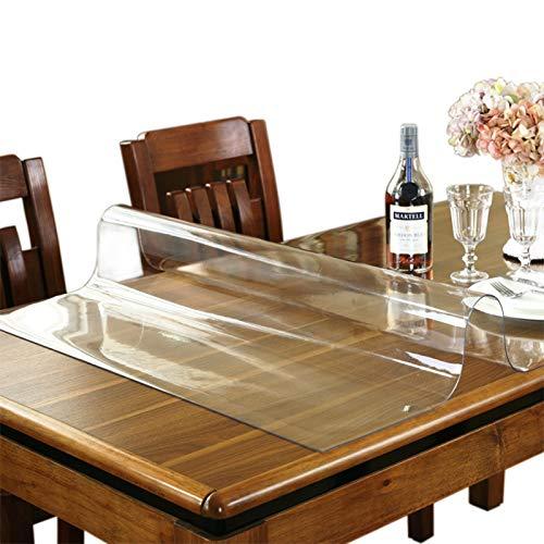 AWSAD Mantel de Vidrio Suave, Mantel Transparente de PVC de 1,5/2/3 mm Impermeable, 17 tamaños (Color : 1.5mm, Size : 70x140CM)