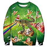 Los hombres de las mujeres feos suéter de Navidad suéter suéteres sudaderas 3D Fnny Pizza Gato...