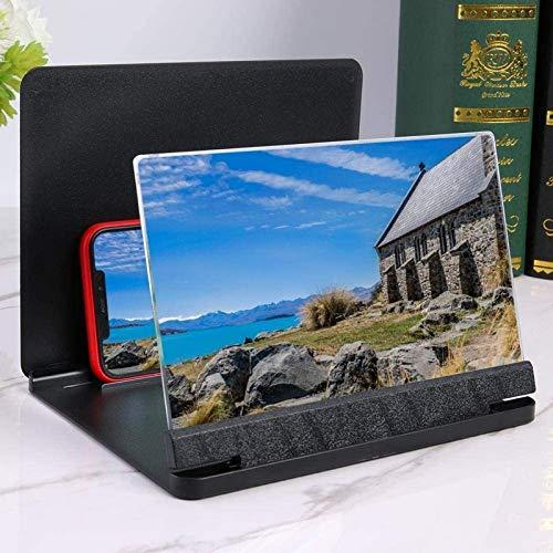 JJDSN Lupa, lupas para Herramientas de Hobby Lupa de Pantalla 3D HD | Amplificador de Lupa de Pantalla de Video para teléfono móvil portátil de 12 Pulgadas | para Todos los teléfonos Inteligentes