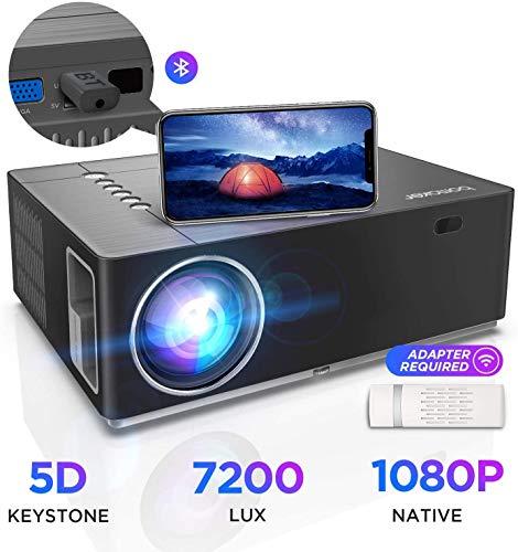 【2020 Upgrade】Beamer 5000 Lumen Native 720p Unterstützt 1080P Full HD BOMAKER Projektor Max. 250'' Display Mini LED kompatibel mit iPhone/Android Smart Phone/iPad/Mac/Laptop/PC (Grau)