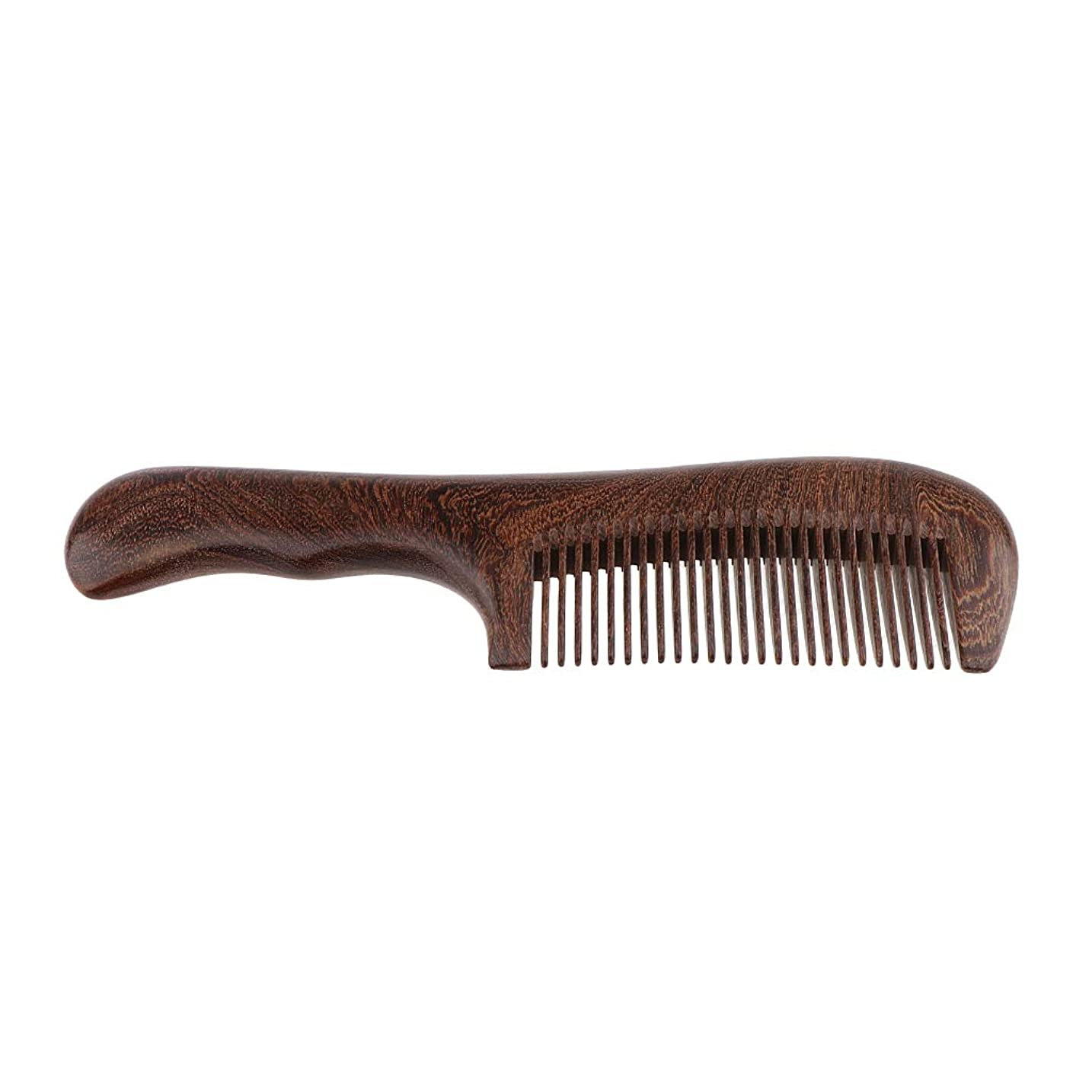 ほのか沿って部SM SunniMix 木製櫛 手作り ヘアブラシ ウッドコーム ハンドヘルド マッサージブラシ 2仕様選べ - 細かい歯