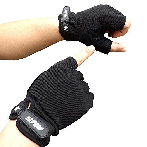 Caerling Herren Arbeitshandschuhe Mode Rutschfest Handschuhe Baumwolle Handschuhe Wildlederimitat Fingerlose Handschuhe