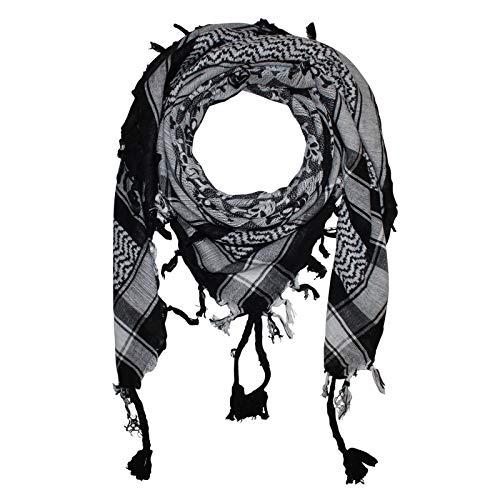 Superfreak Palituch - Totenköpfe kariert schwarz - weiß - 100x100 cm - Pali Palästinenser Arafat Tuch - 100% Baumwolle
