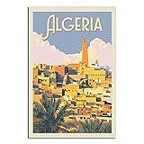 RQSY Vintage-Reise-Poster Algerien, Leinwand-Kunst, Poster,