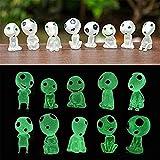 Luminoso Jardín Fantasma Figuritas En Miniatura, árbol Luminoso Elfos, Micro Paisaje Gnomos Decoración De Jardín Jardinería Plantas En Macetas Estatua Decoración De Coche (10 piezas)
